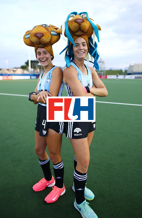 New Zealand, Auckland - 24/11/17  <br /> Sentinel Homes Women&rsquo;s Hockey World League Final<br /> Harbour Hockey Stadium<br /> Copyrigth: Worldsportpics, Rodrigo Jaramillo<br /> Match ID: 10307 - ARG-GER<br /> Photo: (19) ALBERTARIO Agustina and (4) TRINCHINETTI Eugenia