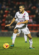 Curtis Weston looks for passing options during the EFL Sky Bet League 2 match between Leyton Orient and Barnet at the Matchroom Stadium, London, England on 7 January 2017. Photo by Jack Beard.