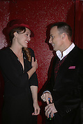 Alice Temperley and David Furnish, MOVE FOR AIDS HOSTED BY ELLE MACPHERSON & DAVID FURNISH. Koko, Camden High St. London. 7/11/06. ONE TIME USE ONLY - DO NOT ARCHIVE  © Copyright Photograph by Dafydd Jones 66 Stockwell Park Rd. London SW9 0DA Tel 020 7733 0108 www.dafjones.com
