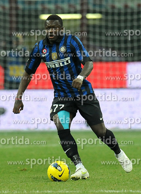 10.12.2011, Stadion Giuseppe Meazza, Mailand, ITA, Serie A, Inter Mailand vs AC Florenz, 15. Spieltag, im Bild Sulley MUNTARI (Inter the football match of Italian 'Serie A' league, 15th round, between Inter Mailand and AC Florenz at Stadium Giuseppe Meazza, Milan, Italy on 2011/12/10. EXPA Pictures © 2011, PhotoCredit: EXPA/ Insidefoto/ Alessandro Sabattini..***** ATTENTION - for AUT, SLO, CRO, SRB, SUI and SWE only *****