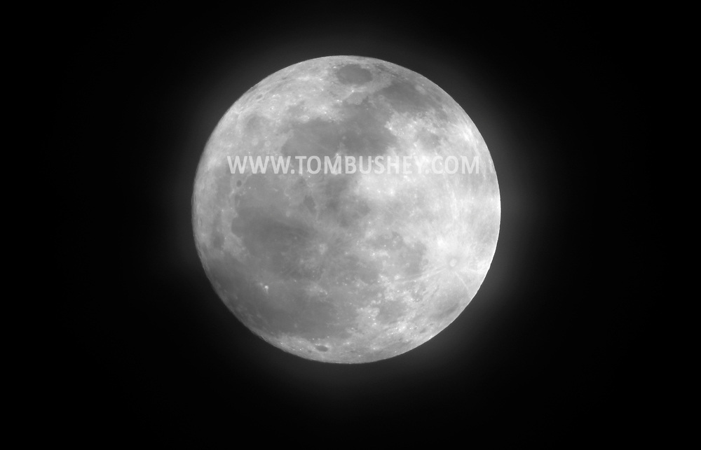 Middletown, New York  - The full moon on  March 7, 2012.