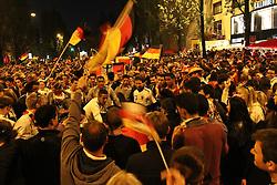 23.06.2010, Leopoldstrasse Schwabing, Muenchen, GER, FIFA Worldcup, Fanfeier nach Ghana vs Deutschland,  im Bild Fans, EXPA Pictures © 2010, PhotoCredit: EXPA/ nph/  Straubmeier