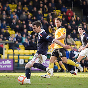 Carl Finnigan scores for Dundee - Livingston v Dundee, IRN BRU Scottish Football League, First Division - ..© David Young - .5 Foundry Place - .Monifieth - .Angus - .DD5 4BB - .Tel: 07765 252616 - .email: davidyoungphoto@gmail.com.web: www.davidyoungphoto.co.uk
