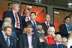 LILLE, FRANCE - Friday, July 1, 2016: FAW Chief Executive Jonathan Ford in the stands ahead of the UEFA Euro 2016 Championship Quarter-Final match against Belgium at the Stade Pierre Mauroy. (Pic by Paul Greenwood/Propaganda)