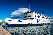 Ferry at dock, Zadar, Dalmatian Coast, Croatia