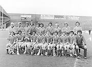 The Antrim team before the All-Ireland Senior B Hurling Championship Antrim v London at Croke Park on the 25th of June 1978. Antrim 1-16 London 3-7.