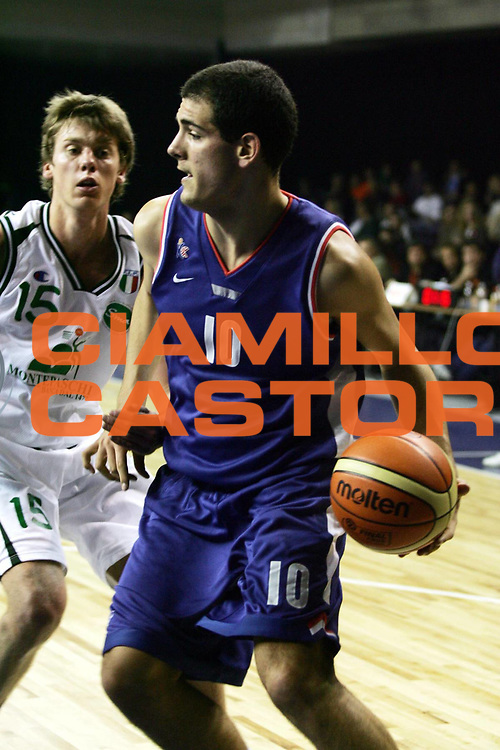 DESCRIZIONE : Praga Eurolega 2005-06 Final Four Torneo Giovanile Cibona Zagabria Montepaschi Siena <br /> GIOCATORE : Sakic <br /> SQUADRA : Cibona Zagabria <br /> EVENTO : Eurolega 2005-2006 Final Four Torneo Giovanile <br /> GARA : Cibona Zagabria Montepaschi Siena <br /> DATA : 28/04/2006 <br /> CATEGORIA : Penetrazione <br /> SPORT : Pallacanestro <br /> AUTORE : Agenzia Ciamillo-Castoria/P.Lazzeroni