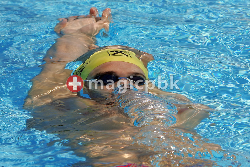 Austria's Markus Rogan swims during practice at the FINA World Championships in Montreal, Quebec Saturday 23 July, 2005. Swimming competion begins Sunday 24 July 2005. (Photo by Patrick B. Kraemer / MAGICPBK)