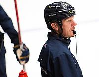2018-08-04 | Jönköping, Sweden: HV71 Johan Lindbom during the HV71 ice premiere at Kinnarps Arena ( Photo by: Marcus Vilson | Swe Press Photo )<br /> <br /> Keywords: Ice Premiere, Season 2018/19, Sweden, SHL, Jönköping, Kinnarps Arena, Ice Hockey, HV71, , Johan Lindbom, Headcoach