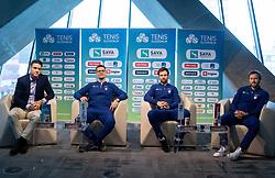 Gregor Krusic, Miha Mlakar, Blaz Kavcic and Tom Kocevar Desman during press conference of Slovenian Tennis Men Team before Davis Cup against Pakistan, on February 27, 2020 in Kristalna palaca, Ljubljana, Slovenia. Photo by Vid Ponikvar / Sportida
