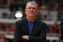February 26, 2011; Stanford, CA, USA;  Oregon Ducks head coach Paul Westhead before the game against the Stanford Cardinal at Maples Pavilion.  Stanford defeated Oregon 99-60.