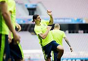 NICE, FRANCE, 2016-06-21<br /> FOTBOLL, EM, LANDSLAG<br /> Zlatan Ibrahimovic under landslagets tr&auml;ning p&aring; Stade de Nice i Nice, den 21 juni 2016.