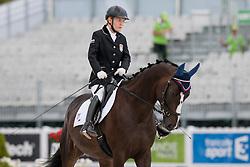 Katerina Jobbagyova riding Sterngreifer in the Grade 1a Para-Dressage at the 2014 World Equestrian Games, Caen, Normandy, France.
