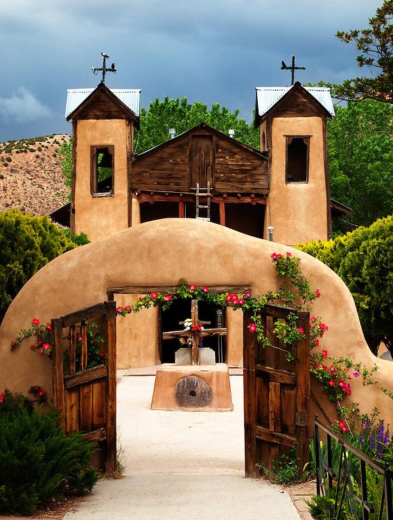 Santuario de Chimayo Church. In the village of Chimayo, New Mexico.