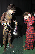 """SAM ARCHER, HELENA BONHAM-CARTER. World Premiere of the theatrical production of """"Edward Scissorhands"""" at Sadler's Wells Theatre in London. 30 November 2005. ONE TIME USE ONLY - DO NOT ARCHIVE  © Copyright Photograph by Dafydd Jones 66 Stockwell Park Rd. London SW9 0DA Tel 020 7733 0108 www.dafjones.com"""