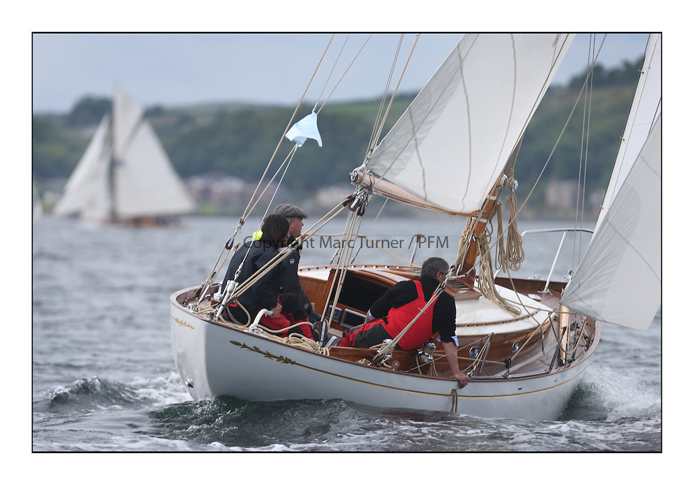 The final day of racing of the Fife Regatta on the King's Course North of Great Cumbrae<br /> <br /> Ellad, Didier Griffiths, FRA, Bermudan Sloop, Fairlie Yacht Services 1957<br /> <br /> * The William Fife designed Yachts return to the birthplace of these historic yachts, the Scotland&rsquo;s pre-eminent yacht designer and builder for the 4th Fife Regatta on the Clyde 28th June&ndash;5th July 2013<br /> <br /> More information is available on the website: www.fiferegatta.com
