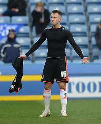 Fulham's Cauley Woodrow reacts after being incorrectly shown a red card - Photo mandatory by-line: Richard Martin-Roberts/JMP - Mobile: 07966 386802 - 21/03/2015 - SPORT - Football - Huddersfield - John Smith's Stadium - Huddersfield Town v Fulham - Sky Bet Championship