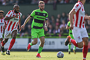 Forest Green Rovers Carl Winchester(7) runs forward during the EFL Sky Bet League 2 match between Forest Green Rovers and Cheltenham Town at the New Lawn, Forest Green, United Kingdom on 20 October 2018.