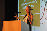 Iwona Blazwick attends the Swarovski Whitechapel Gallery Art Plus Opera, Whitechapel Gallery. An evening of art and opera raising funds for the Whitechapel Gallery. 77-82 Whitechapel High St. London E1 3BQ. 15 March 2012.