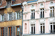 Traditional architecture at Troyes in the Champagne-Ardenne region of France