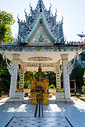 Exterior view  of the grounds outside Wat Inpeng, Vientiane, Laos.