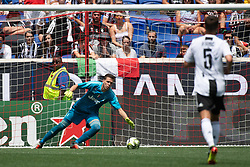 July 28, 2018 - Harrison, New Jersey, United States - Juventus goalkeeper WOJCIECH SZCZĘSNY (1) blocks a shot during the International Champions Cup at Red Bull Arena in Harrison, NJ.  Juventes vs Benfica (Credit Image: © Mark Smith via ZUMA Wire)