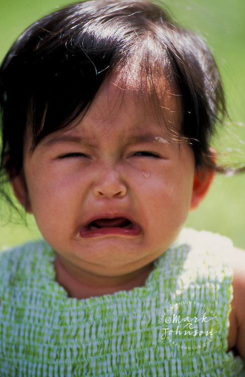 8 month old Filipino-Caucasian baby girl crying