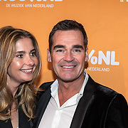 NLD/Amsterdam/20180220 - 100% NL Awards 2018, Jeroen van der Boom en partner Dany de Wit