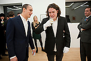 ALEX DELLAL; ADAM WAYMOUTH, Hoxton Sq projects auction in aid of Shelter. .- Hoxton sq. Gallery. 24 November 2010. . -DO NOT ARCHIVE-© Copyright Photograph by Dafydd Jones. 248 Clapham Rd. London SW9 0PZ. Tel 0207 820 0771. www.dafjones.com.