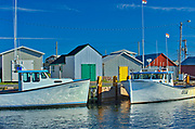 Fishing boats in coastal village<br />