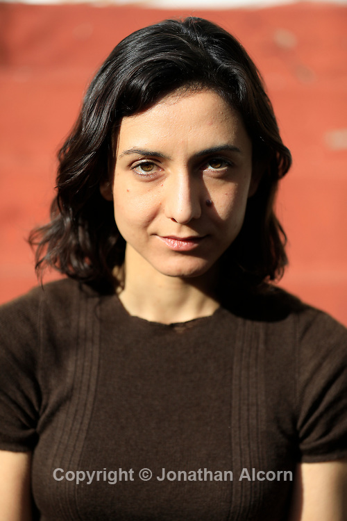 Author Ottessa Moshfegh photographed at her home in Los Angeles, California January 18, 2017. photo by Jonathan Alcorn