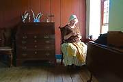 Docent, Crochet, Colonial Plantation, Ridley Creek State Park, Delaware County, PA