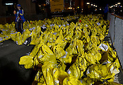 Hundreds of unclaimed bags were sorted after two explosions killed three and injured over 200 more on Boylston Street near the Boston Marathon finish line on April 15, 2013.