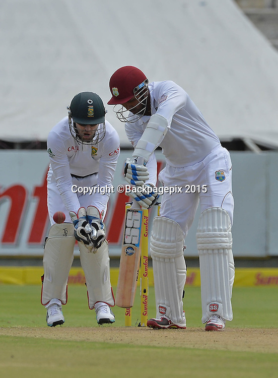 Denesh Ramdin of West Indies during Day 1 of the 2015 Sunfoil Test Series Cricket Match between South Africa and the West Indies at Newlands Stadium, Cape Town on 2 January 2015 ©Chris Ricco/BackpagePix