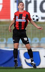 Damir Hadzic (18) of Primorje  at 12th Round of PrvaLiga Telekom Slovenije between NK Primorje vs NK Nafta Lendava, on October 5, 2008, in Town stadium in Ajdovscina. Nafta won the match 2:1. (Photo by Vid Ponikvar / Sportal Images)