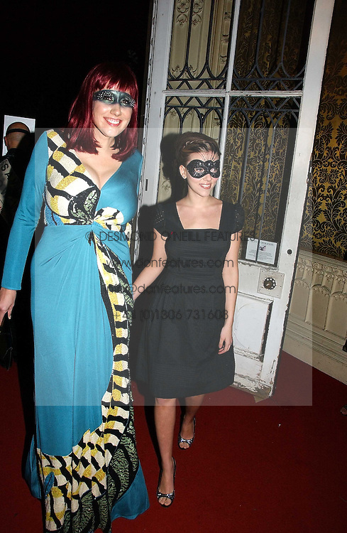 Left to right, AMY SACCO and SCARLETT JOHANSSON at the 2006 Moet & Chandon Fashion Tribute in honour of photographer Nick Knight, held at Strawberry Hill House, Twickenham, Middlesex on 24th October 2006.<br />