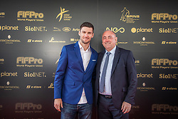 Rok Kronaveter and Radenko Mijatovic during SPINS XI Nogometna Gala 2019 event when presented best football players of Prva liga Telekom Slovenije in season 2018/19, on May 19, 2019 in Slovene National Theatre Opera and Ballet Ljubljana, Slovenia. ,Photo by Urban Meglic / Sportida