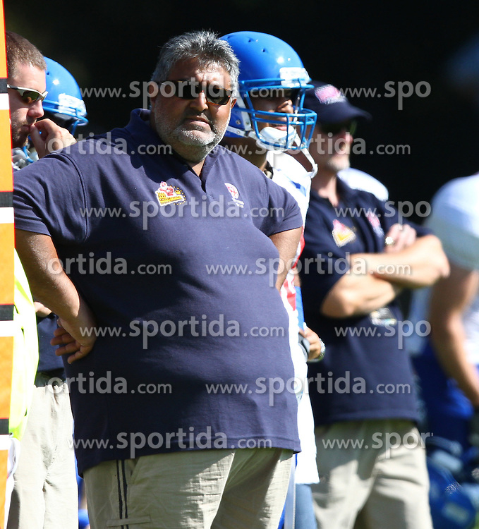 31.07.2010, Commerzbank Arena, Frankfurt, GER, Football EM 2010, Game for Place 5, Team Great Britain vs Team Finland, im Bild Tariq Ayub, (Team Great Britain, Headcoach) an der Sideline in der Team Area,  EXPA Pictures © 2010, PhotoCredit: EXPA/ T. Haumer / SPORTIDA PHOTO AGENCY