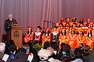 Dayton Board of Education president Ronald C. Lee speaks during the Stivers School For The Arts commencement at the Dayton Masonic Center, Saturday, May 19, 2012.