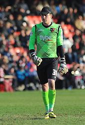 Exeter City's Christy Pym -Photo mandatory by-line: Nizaam Jones - Mobile: 07966 386802 - 21/03/2015 - SPORT - Football - Cheltenham - Whaddon Road - Cheltenham Town v Exeter City - Sky Bet League Two