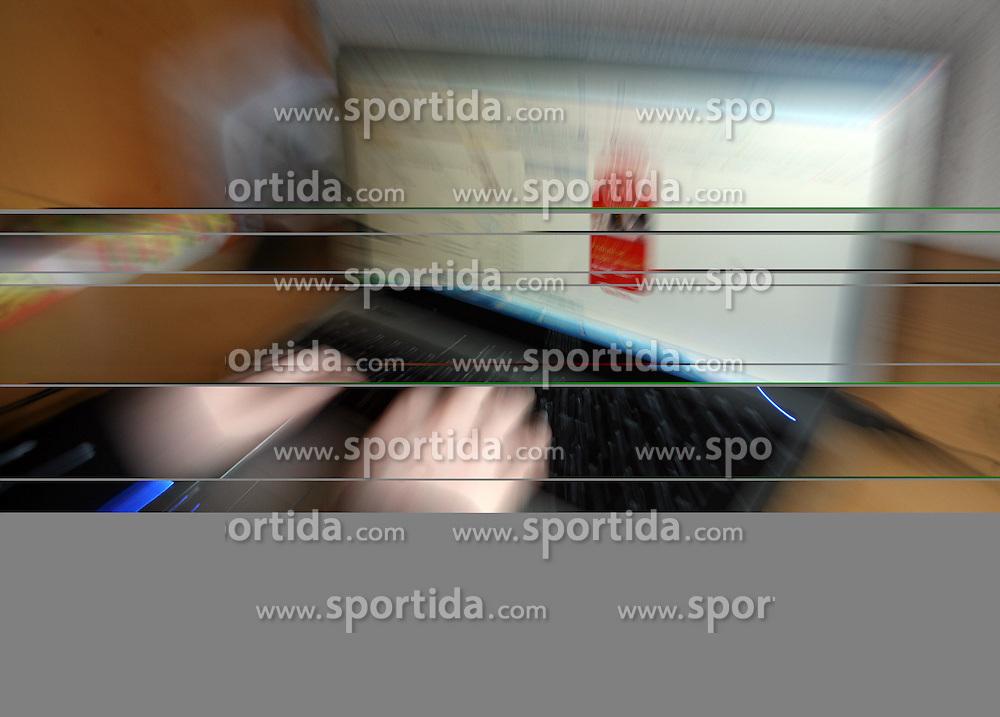 Girl at Internet browsing. (Photo by Vid Ponikvar / Sportal Images)