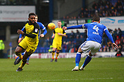 Burton Albion's Darren Bent on the attack during the EFL Sky Bet Championship match between Ipswich Town and Burton Albion at Portman Road, Ipswich, England on 10 February 2018. Picture by John Potts.