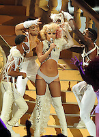 New York, NY-September 13, 2009: Lady Gaga performs during the MTV Video Music Awards at Radio City Music Hall on September 13, 2009 in New York City (Photo by Jeff Snyder/PictureGroup)