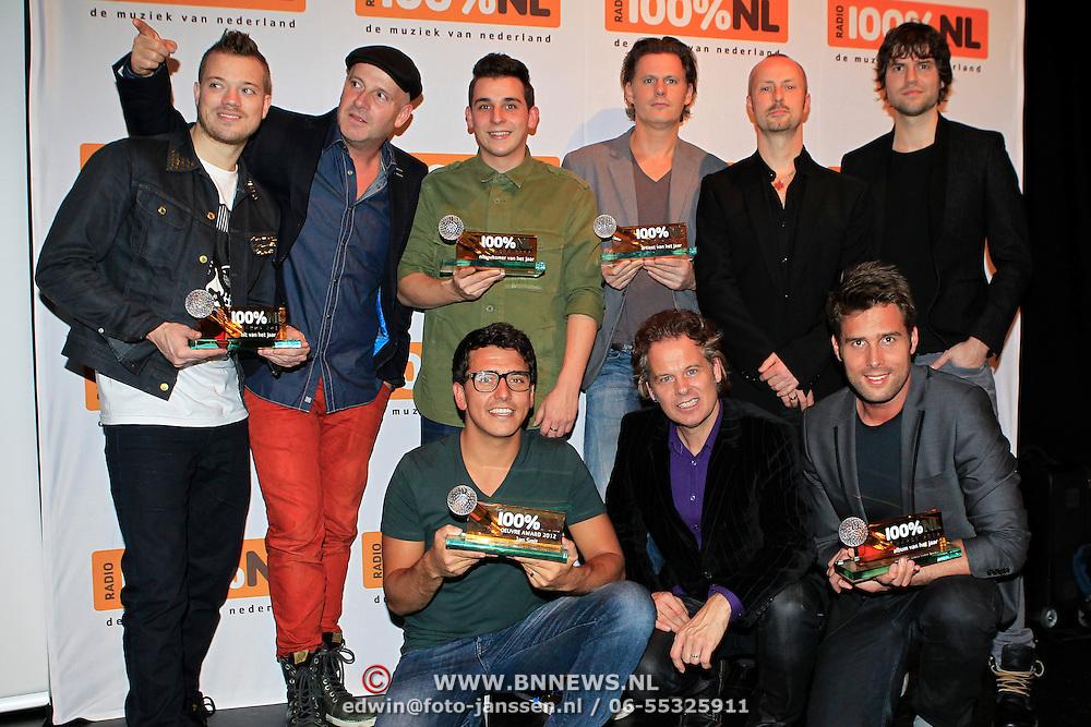 NLD/Hilversum/20130109 - Uitreiking 100% NL Awards 2012, Award winnaars Gers pardoel, Blof, Nick & Simon, Jan Smit , Nielson