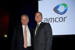 Amcor EGM and GM to discuss and vote on the demerger of Amcor and Orora. At the Melbourne Convention and Exhibition Centre. New Amcor Chairman Graeme Liebelt, CEO Amcor Ken MacKenzie,