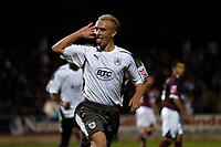 Photo: Richard Lane.<br />Northampton Town v Bristol City. Coca Cola League 1. 29/08/2006. <br />City's Dave Cotterill celebrates scoring his sides third goal from a penalty.