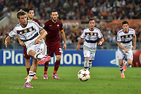 Uefa Champions League-2014-2015 / Group E / <br /> As Roma vs Fc Bayern Munich 1-7  ( Olympic Stadium, Roma - Italy ) <br /> Thomas Mueller of Fc Bayern Munich , Score his Penalty Goal (0-5) , <br /> during the match between As Roma and Fc Bayern Munich