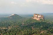 Sri Lanka. <br /> Sigiriya from the air.