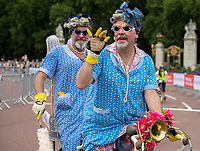 Riders in fancy dress ride down The Mall as part of the Prudential RideLondon FreeCycle 29/07/2017<br /> <br /> Photo: Tom Lovelock/Silverhub for Prudential RideLondon<br /> <br /> Prudential RideLondon is the world's greatest festival of cycling, involving 100,000+ cyclists – from Olympic champions to a free family fun ride - riding in events over closed roads in London and Surrey over the weekend of 28th to 30th July 2017. <br /> <br /> See www.PrudentialRideLondon.co.uk for more.<br /> <br /> For further information: media@londonmarathonevents.co.uk