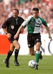 01-06-2003 NED: Amstelcup finale FC Utrecht - Feyenoord, Rotterdam<br /> FC Utrecht pakt de beker door Feyenoord met 4-1 te verslaan / Robin van Persie